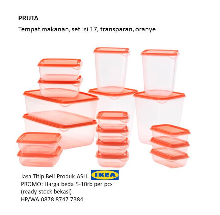 Food Container Pruta IKEA isi 17 wadah